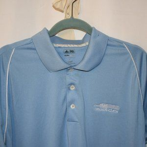 adidas Golf ClimaCool Polo Men's L Sky Blue w/wht